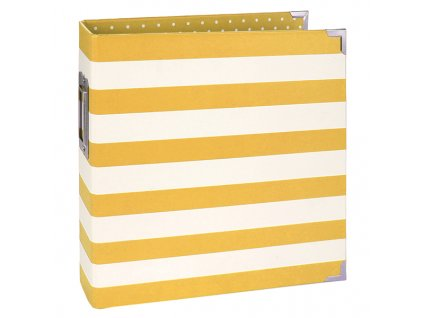 11428 6x8 designer binder yellow stripe