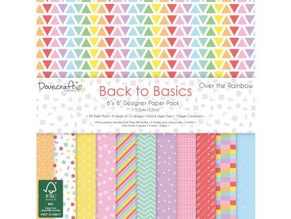 Back to Basics Over the Rainbow 6x6 Paper Pack (Typ balení Sada 1x každý design)