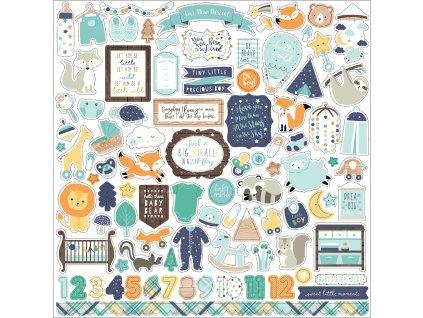BB172014 Hello Baby Boy Sticker