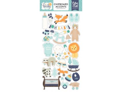 BB172021 Hello Baby Boy Chipboard Accents