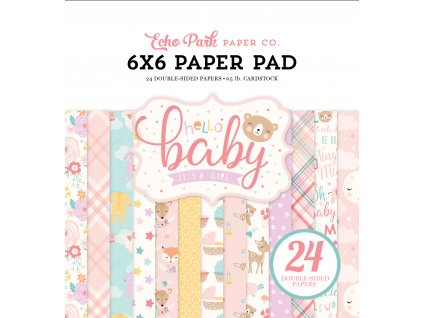 BG171023 Hello Baby Girl Paper Pad