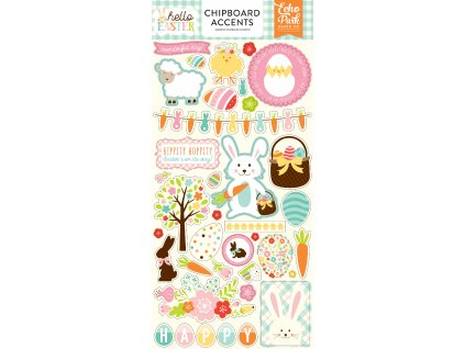 HEE145021 Hello Easter 6x12 Chipboard Accents