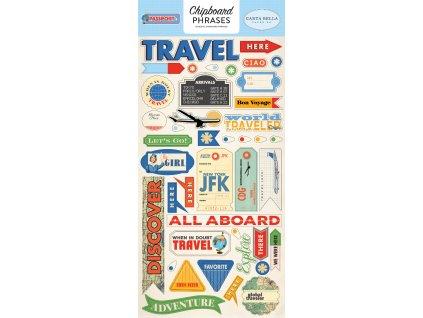 CBPAS84022 Passport 6x12 Chipboard Phrases