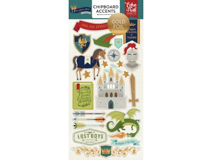 OUB123022 Once Upon Boy 6x12 Chipboard F