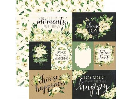 CBBO98002 White Rose Journaling Cards