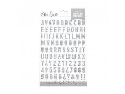 EllesStudio January2019 Black and White Polka Dot Puffy Alphabet Stickers