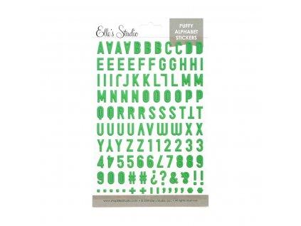 EllesStudio June2019 Green Puffy Alphabet Stickers 01