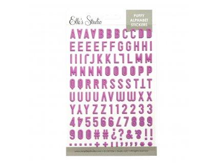 EllesStudio May2019 Fuschia Puffy Alphabet Stickers