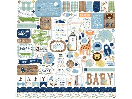 BAB203014 Baby Boy Element Sticker