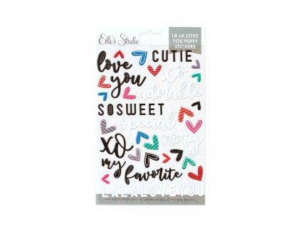 EllesStudio January2020 La La Love You Puffy Stickers