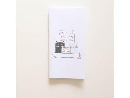 Traveler's notebook - Kočky