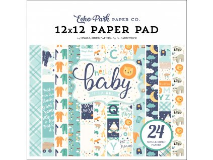 BB172030 Hello Baby Boy 12X12 Pad