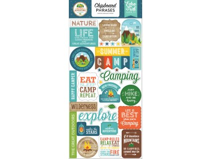 SA180022 Summer Adventure Chipboard Phrases
