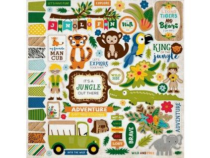 JS117014 Jungle Element Stickers F