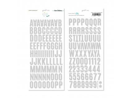 ELB0082 Alfabeto chipboard NORTE