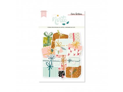 ELB0083 Die cuts chipboard GIFTS NORTE