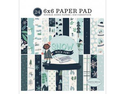 CBSMF108023 Snow Much Fun 6x6 Paper Pad