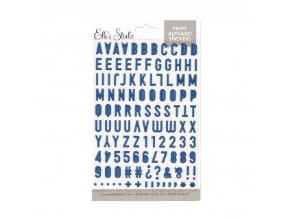 Elles Studio July 2020 Navy Puffy Alphabet Stickers