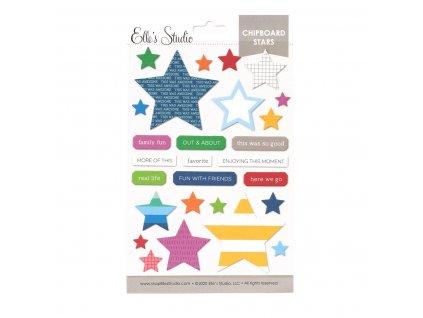 Elles Studio June 2020 Chipboard Stars