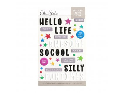 Elles Studio August 2020 So Cool Puffy Stickers