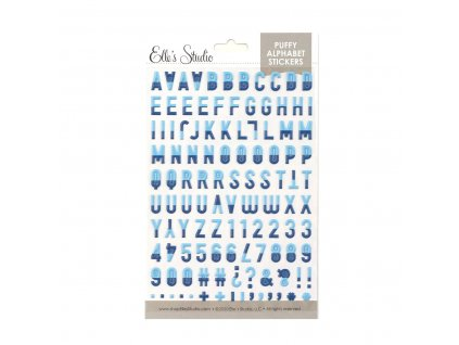 Elles Studio July 2020 Navy Dipped Puffy Alphabet Stickers