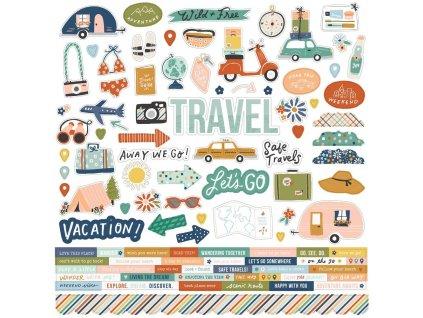 simple stories safe travels cardstock sticker 1480