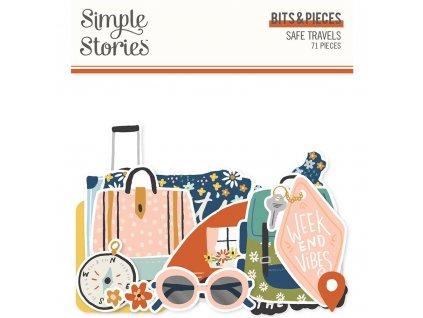 simple stories safe travels bits pieces 14816