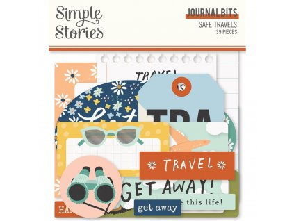 simple stories safe travels journal bits 14817