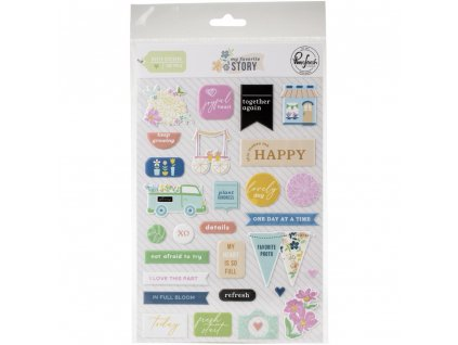 My Favorite Story puffy stickers