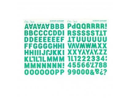 Elles Studio April 2021 Teal Parker Acetate Alphabet Stickers