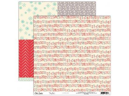 EllesStudio Joyful 12x12paper Countdown JY008
