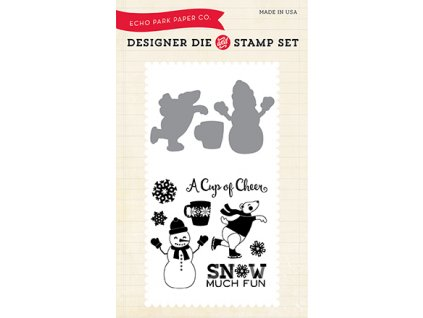 HW95045 Snow Much Fun Stamp&Die