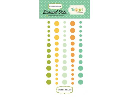 CBIB50028 Its A Boy Enamel Dots