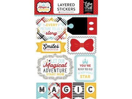 MW124025 Magic Wonder Layered Stickers F