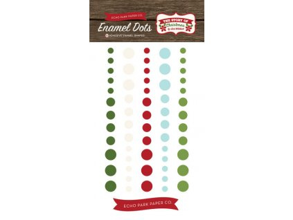7653 story of our christmas enamel dots