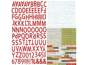 10038 classic christmas alphabet stickers