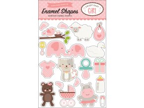 SBG142061 Sweet Baby Girl Enamel Shapes F