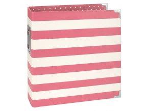 11429 6x8 designer binder pink stripe