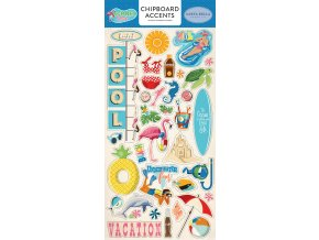 CBSPL83021 Summer Splash 6x12 Chipboard Accents