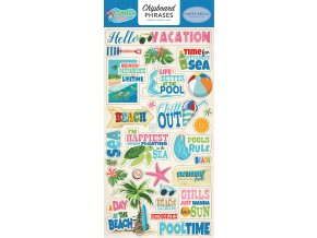 CBSPL83022 Summer Splash 6x12 Chipboard Phrases
