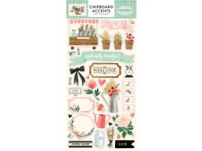 CBMK96021 Flower Market Chipboard Accents