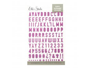 EllesStudio May2019 Fuschia Puffy Alphabet Stickers