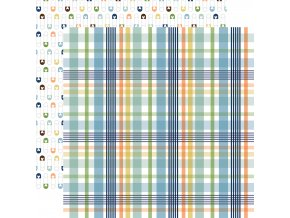 BAB203013 Newborn Plaid