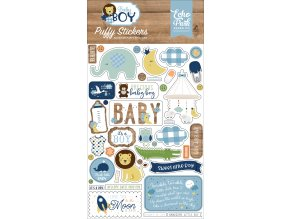 BAB206066 Baby Boy Puffy Stickers