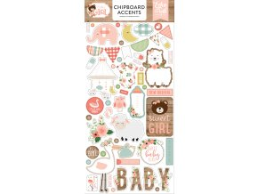 BAG202021 Baby Girl Chipboard Accents