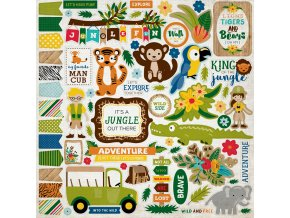 JS117014 Jungle Element Stickers F