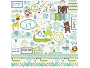 SBB143014 Sweet Baby Boy Element Sticker