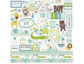 SBB143014 Sweet Baby Boy Element Sticker