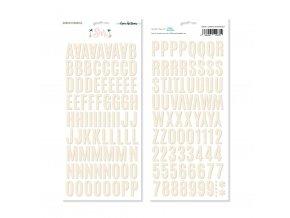 ELB0081 Alfabeto chipboard SUR