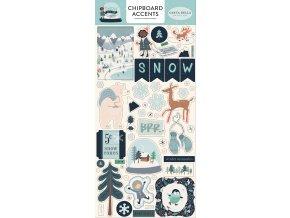 CBSMF108021 Snow Much Fun Chipboard Accents